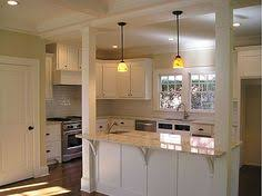 Kitchen Bar With Pillars