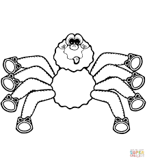 Click The Cartoon Spider Coloring Pages