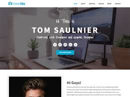 Meetme Free Resume Website Template Copy MeetMe Is Bootstrap 4