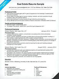 Gallery Of Real Estate Resume Templates Free Agent Sample Companion