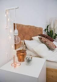 hangeleuchte gluhbirne len schlafzimmer deko ideen kupfer