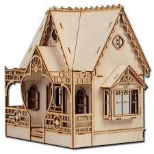 Dollhouse Miniature DIY Kit Wood Toy Doll House Cottage Home Decor W