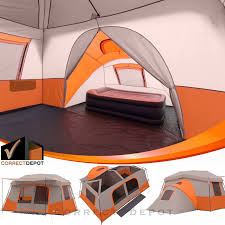 100 Ozark Trail Dome Truck Tent 11 Person 3 Room Instant Cabin Private Room