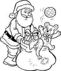 Santa Claus Coloring Pages For Preschoolers 1