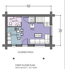 14x40 Cabin Floor Plans by Romeo 500 Sq Ft Log Cabin Kit Log Home Kits Mountain Ridge