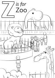 Click To See Printable Version Of Letter Z Is For Zoo Coloring Page