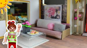 playmobil frühlingsroomtour deko modernes wohnhaus familie sonnenschein dollhouse diys für