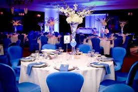 Royal Blue Wedding Reception Pictures Decorations Having A Memorable