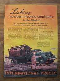 VINTAGE INTERNATIONAL Harvester Truck Ad 1937~Original Life Magazine ...