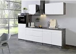 küchenzeilen leerblock 270 cliff ohne e geräte grifflos