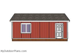 12 X 24 Gable Shed Plans by 12x24 Gable Shed Roof Plans Myoutdoorplans Free Woodworking