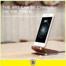 apple bureau baseus bois de bureau station d accueil chargeur pour apple iphone
