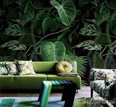 großhandel grüne pflanzen mural bild wand papier 3d für wohnzimmer wand kunst dekor malerei tapete wände fotoprint wallpaper wandbilder fumei66