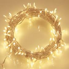 Twinkling Christmas Tree Lights Uk by 100 Leds 10m Outdoor Battery Fairy String Lights Warm White For