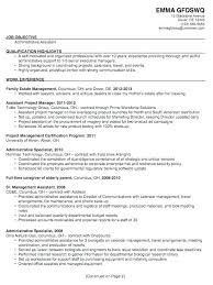 Resume Job Objectives Administrative Assistant