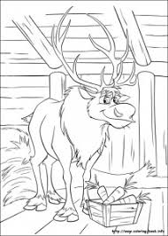 Frozen Coloring Page Sven 214x300