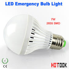 hotook led emergency light e27 7w 9w 12w smart bulb rechargeable