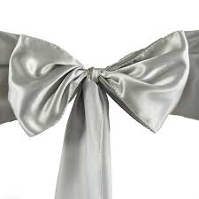 10 Silver Satin CHAIR SASHES Ties Bows Wedding Ceremony Reception ... 100 Silver Satin Chair Cover Sash Bows For Wedding Party Rosette Stretch Banquet Spandex Amazoncom Vlovelife Sashes Tie Ribbon Purple Wedding Linens New Party Black Covers Ircossatinwhiteivorychampagnesilverblack250 Lets Linentablecloth Ivory Off White Draped Chameleon Social Shopfront Of Lansing Table Decorations Vevor Pcs Bow Decoration Rose Gold Blush Universal Efavormart Rental Back Louise Vina Event Sage Green Right Choice Linen