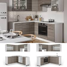 vicco eckküche küchenzeile küchenblock 160x180cm real de