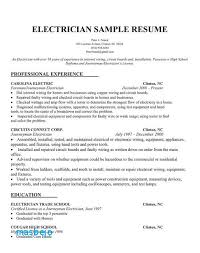 Electrician Apprentice Resume Examples Samples Sample Resumes