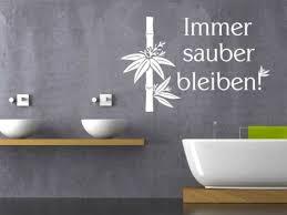 wandtattoo für bad sprüche für badezimmer immer schön sauber