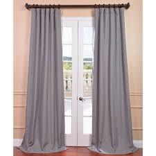 Ruffle Blackout Curtain Panels by For Dining Room Pepper Grey Heavy Faux Linen Curtain Panel