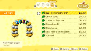 Items Where Year Is 2021 All New Year S Event Items Animal Crossing New Horizons