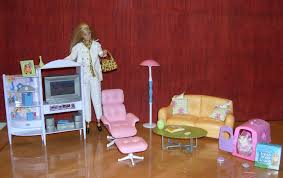 Barbie Living Room Playset by 1997 Barbie Folding Pretty House Living Room Set With Accessories