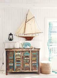 Rustic Furniture And Decor Nautical Vignette With Beach A Weatehred Side Console