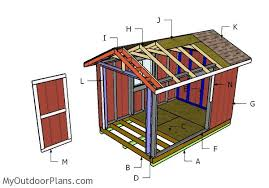 8x12 shed plans myoutdoorplans free woodworking plans and