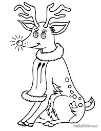 Reindeer Coloring Pages Free Deer Head Outline Page Printable Legendary Red Nosed Happy