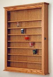 Tad Likes This For His Shotglass Collection 72 Oak Shot Glass Display Case Wall Cabinet Shelf Rack