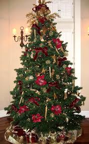 Decorating Christmas Trees Burgundy