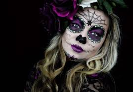 Halloween Half Mask Makeup by Sugar Skull Makeup Youtube