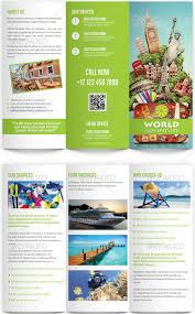 Travel Guide Brochure Template Tourist Format Exol Gbabogados On Tri Fold Blue Green