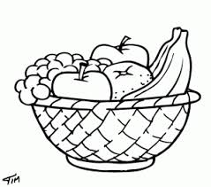 Ideas Of Printable Coloring Pages Fruit Basket For Sample Proposal