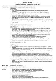 Sample Resume Of Business Analyst In It Industry Software Samples Velvet Jobs