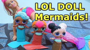 LOL SURPRISE DOLLS Go Swimming Again And Find MERMAID BARBIE Become MERMAIDS