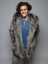 spirithoods official website grey wolf faux fur coat