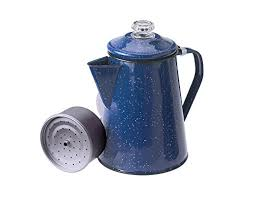 GSI Outdoors Enamelware Percolator Coffee Pot 8 Cup Blue