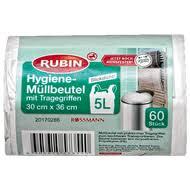 rubin hygiene müllbeutel mit tragegriffen 5 l kaufen