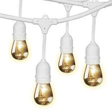feit outdoor weatherproof string light set white 48 ft 24 light