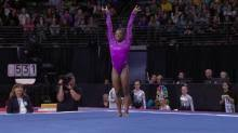 Simone Biles Floor Routine by Simone Biles Delivers With Brand New Floor Routine Nbc Sports