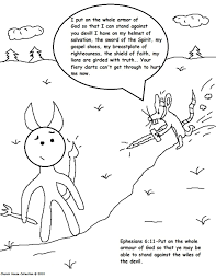 Armor Of God Coloring Pages Within