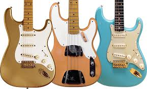 LEFT 1958 Stratocaster With What Could Be Anything From Buicks 1952 Aztec Gold To