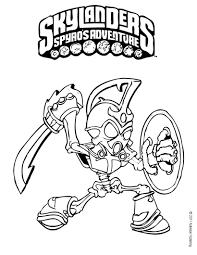 Skylander Coloring Page Skylanders Trap Team Pages Food Fight Free For Kids