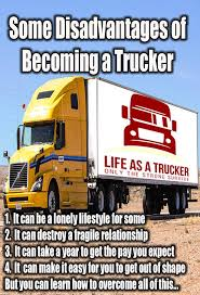 Disadvantages Of Becoming A Truck Driver