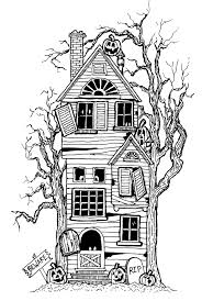 Scary Halloween Coloring Pages To Print by Halloween Coloring Pages For Adults Justcolor