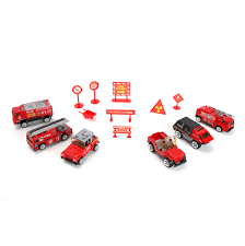 100 Fire Truck Accessories Mini Rescue Engine Emergency Toy Set Vehicle Models With