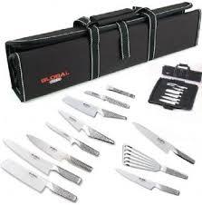 coffret couteau cuisine mallette global avec 11 couteaux